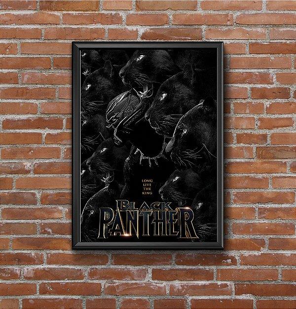 Quadro Placa Decorativo Filme Pantera Negra Preto & Branco