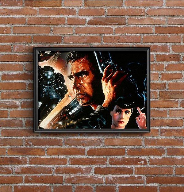 Quadro Placa Decorativo Filme Blade Runner Preto & Vermelho