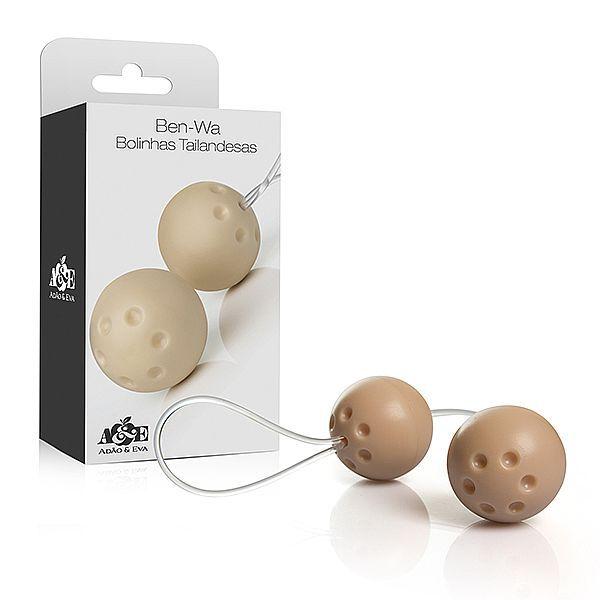 Ben-wa - Conjunto 2 bolas pompoar - Marfim (AE-AC006)