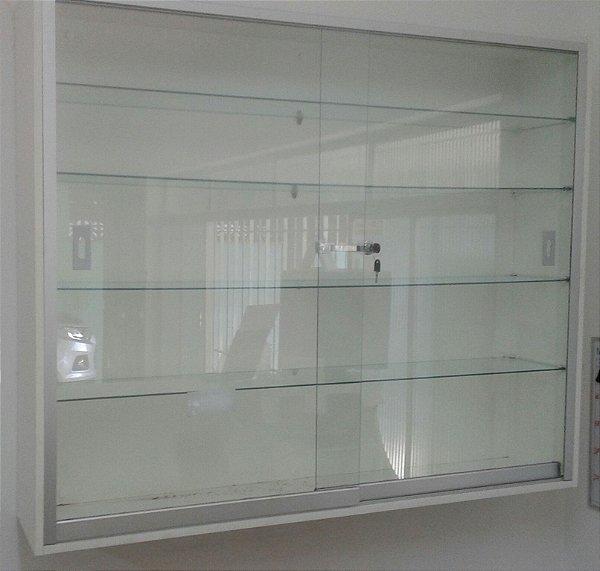VITRINE MDF COM VIDRO 20 x 105 x 100cm