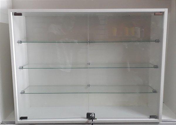 Vitrine MDF com Vidro Para Parede  20 x 64 x 64cm