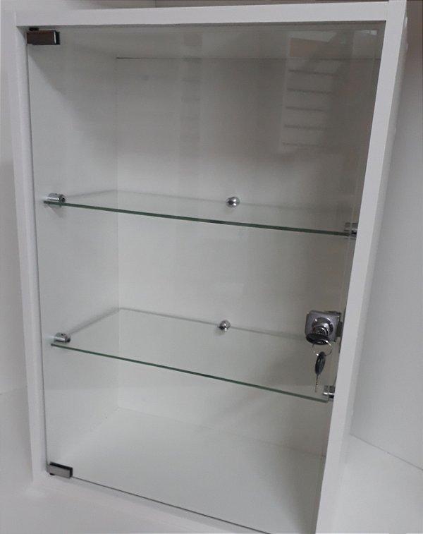 Vitrine MDF com Vidro Para Parede  25 x 44 x 64cm