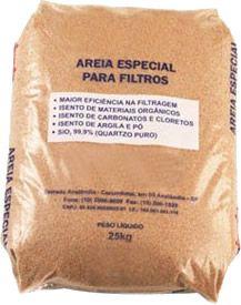 Areia Especial para Filtragem - 25 kg