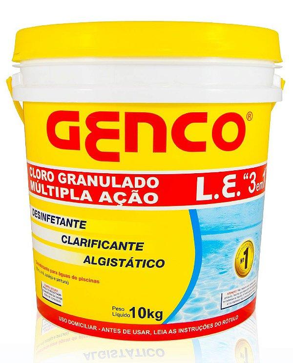 GENCO LE - Cloro Granulado Múltipla Ação 3em1 - 10kg - Genco