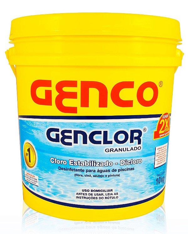 GENCLOR - Cloro Granulado Estabilizado - 10kg - Genco