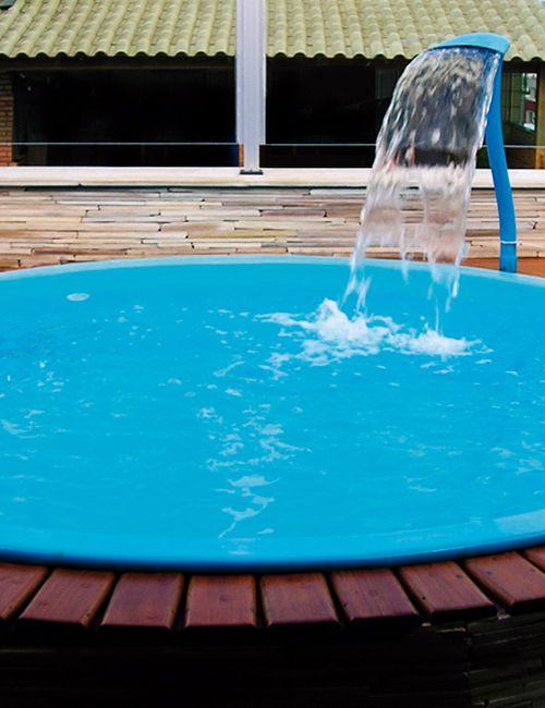 Piscina de Fibra Pingo Azul - 2,00 m x 0,43 m - 1.300 litros - Diazul Piscinas