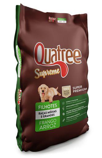Ração Super Premium Quatree Supreme para Cães Filhotes de Raças Medias e Grandes 10,1Kg