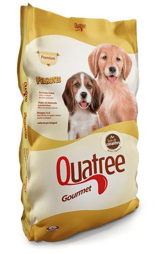 Ração Premium Quatree Gourmet para Cães Filhotes de Raças Medias e Grandes 10,1Kg