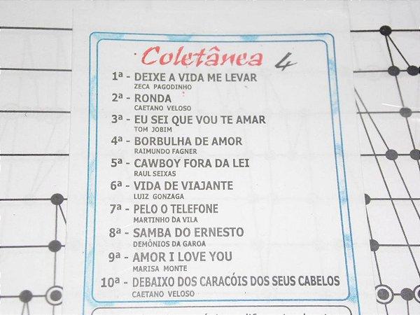 COLETÂNEA 04  COM 10 PARTITURAS PARA CÍTARA MINI HARPA PROMOÇÃO BLACK FRIDAY
