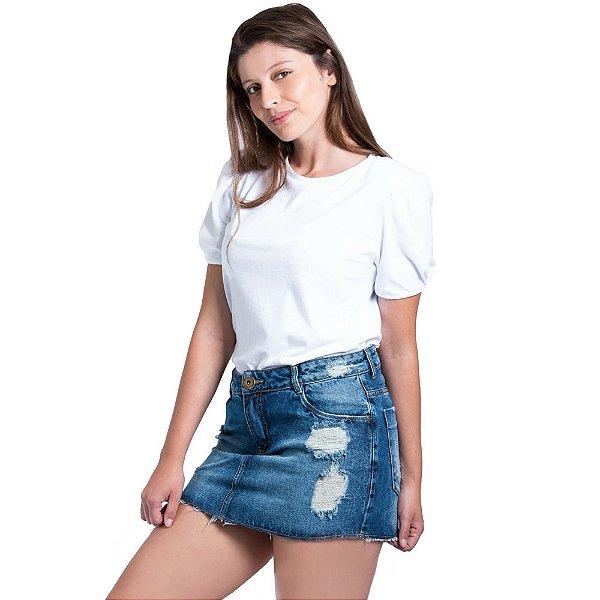 Minissaia Morena Rosa Jeans Destroyer