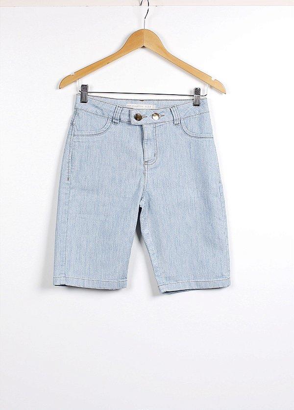 Bermuda Maria Valentina Essential Jeans Delavê