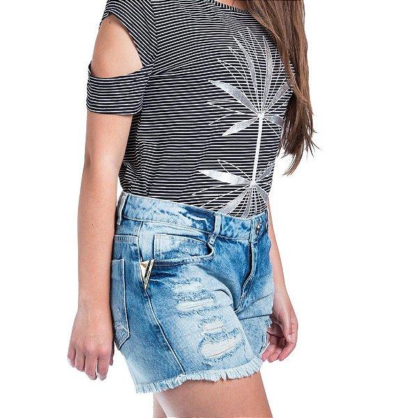 Shorts Morena Rosa Jeans Confort