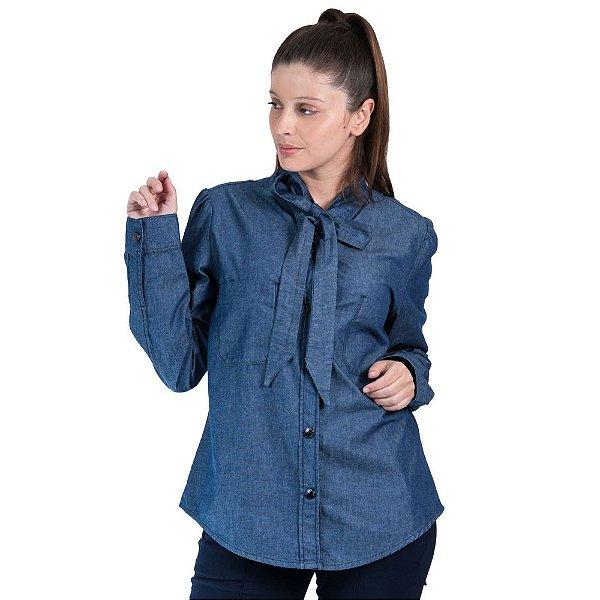 0e33644365 Camisa Maria Valentina Manga Longa Gola Laço - Sua loja de moda ...