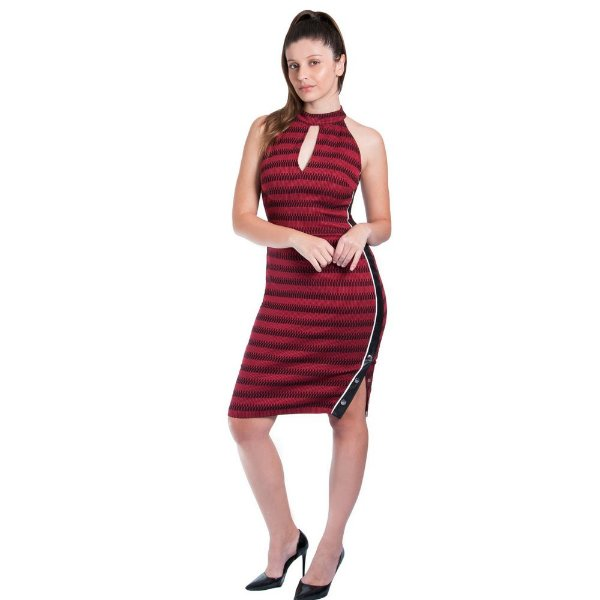 9bdfe6bdf Vestido Morena Rosa Midi Cava Francesa Botão - Sua loja de moda ...