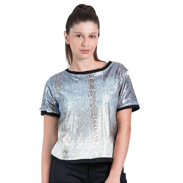 3eb6dbaa2 T-Shirt Leboh Decote Retilínea Lisa Tie Dye Estampada - Sua loja de ...