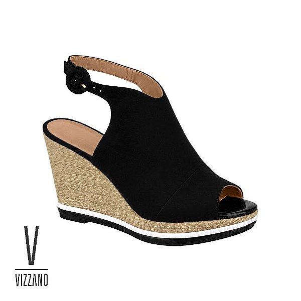 4744a308cb sandalia feminina anabela vizzano corda - Amo Outlet