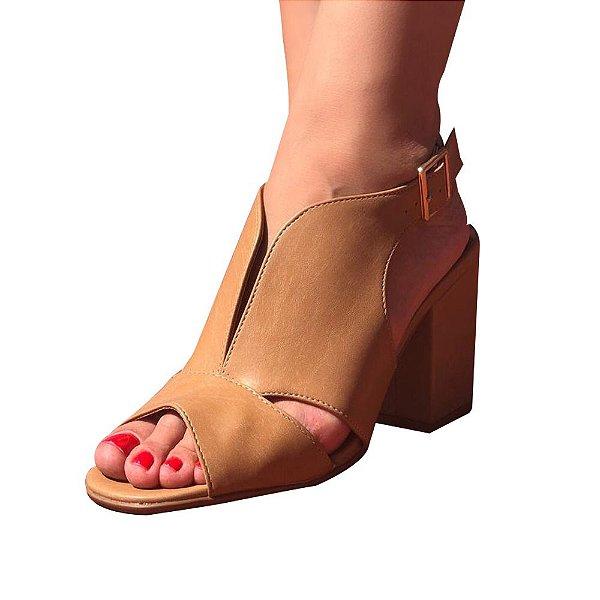 8ad1bc6594 sandália salto grosso renata mello - Amo Outlet