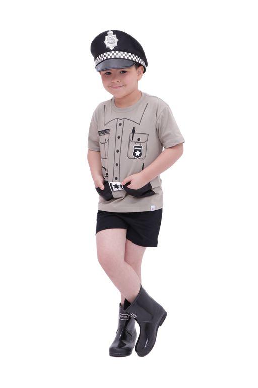 Conjunto Policial Valente - camiseta e shorts