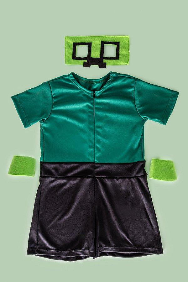 Look inspirado no Creeper do Minecraft  - QUIMERA KIDS