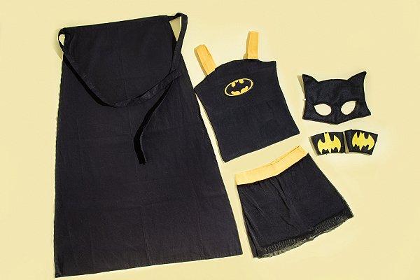 Look inspirado na Batgirl c/ acessórios - QUIMERA KIDS