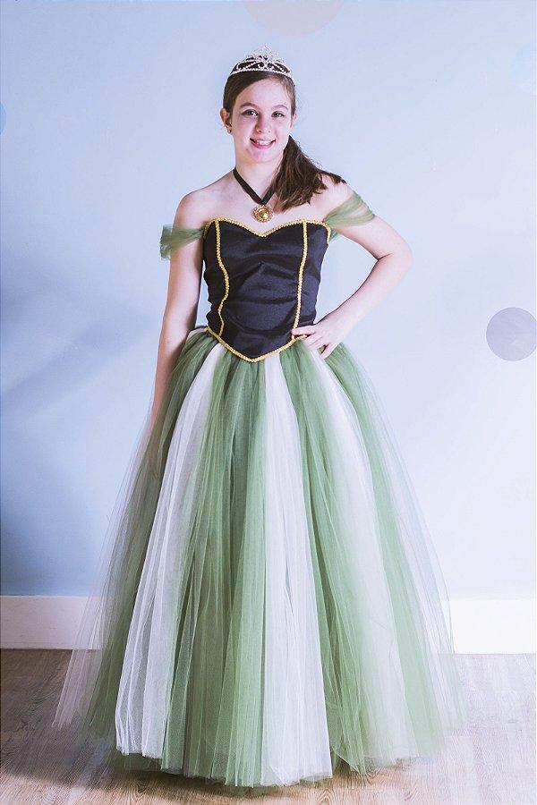 Look da princesa Ana do Frozen - Fantasia - QUIMERA KIDS