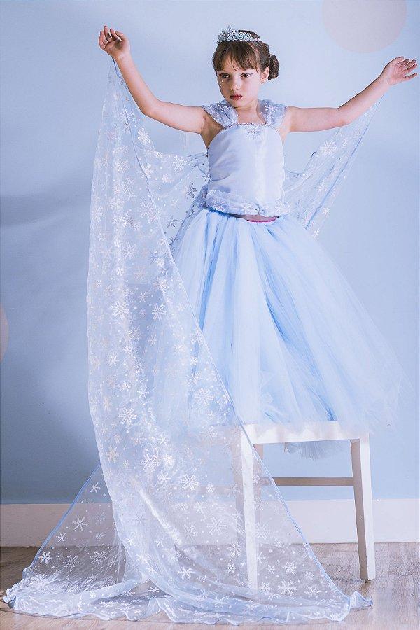 Look inspirado na Elsa do Frozen - Fantasia - QUIMERA KIDS