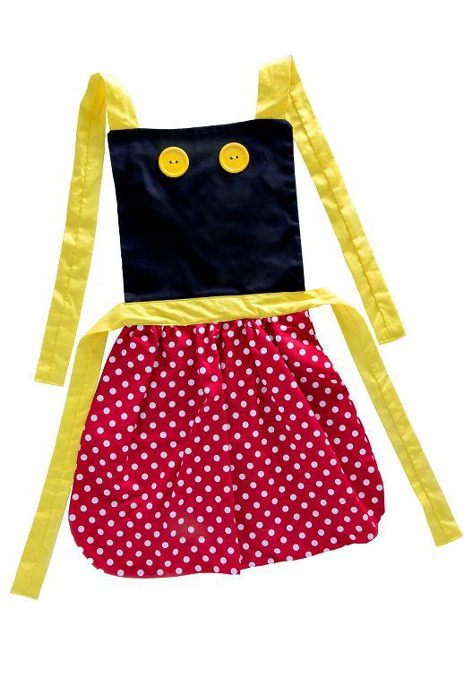 Avental inspirado na Minnie - Acessórios - QUIMERA KIDS