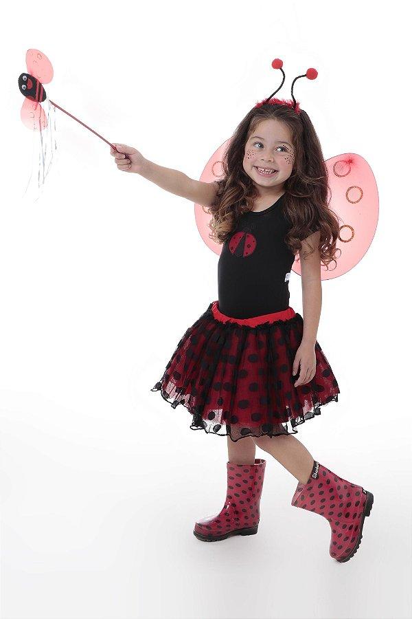 Look completo da Joaninha em tutu - Fantasia - QUIMERA KIDS