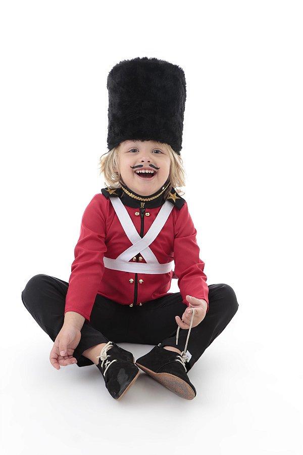 Conjunto Soldadinho Chumbo - camisa, calça, suspensório e chapéu