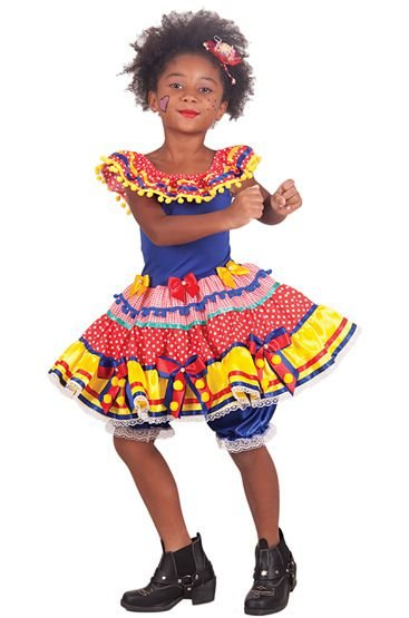 Vestido de Ciganinha Caipira - Festa Junina