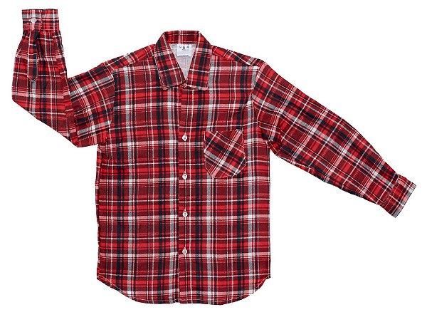 177c98145e Camisa xadrez vermelha e branca - Festa Junina - Quimera Kids