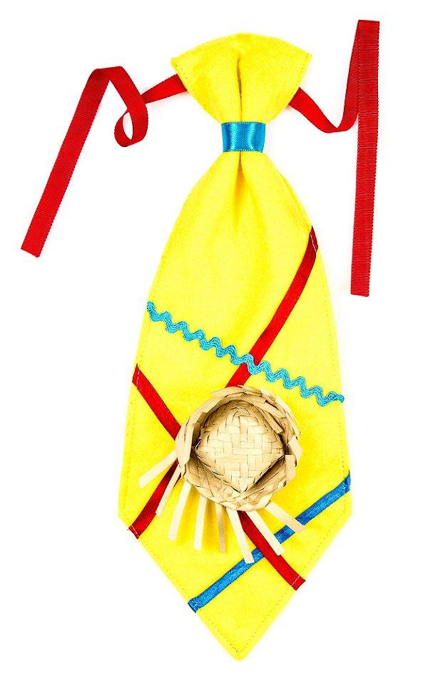 Gravata caipira amarela - Festa Junina - QUIMERA KIDS