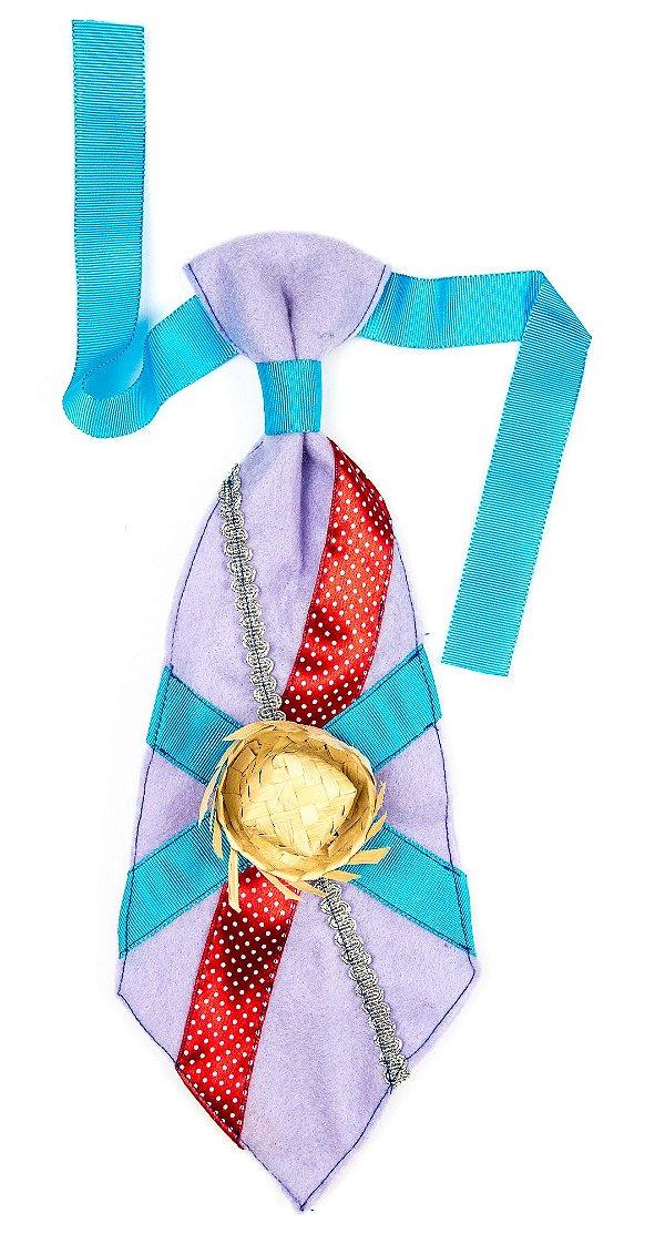 Gravata caipira LILÁS - Festa Junina - QUIMERA KIDS