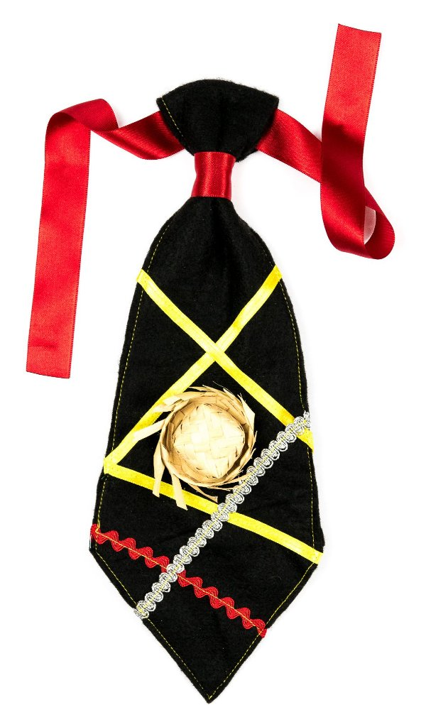 Gravata caipira PRETA - Festa Junina - QUIMERA KIDS