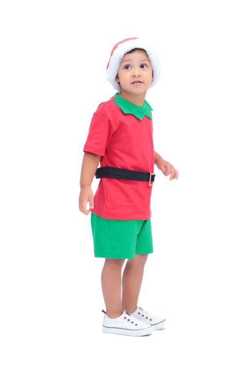 Conjunto Duende Esperto - camiseta, shorts e gorro