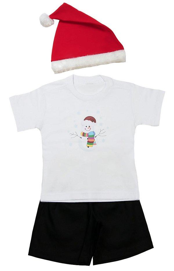 Look de Boneco de Neve - Natal - Quimera Kids