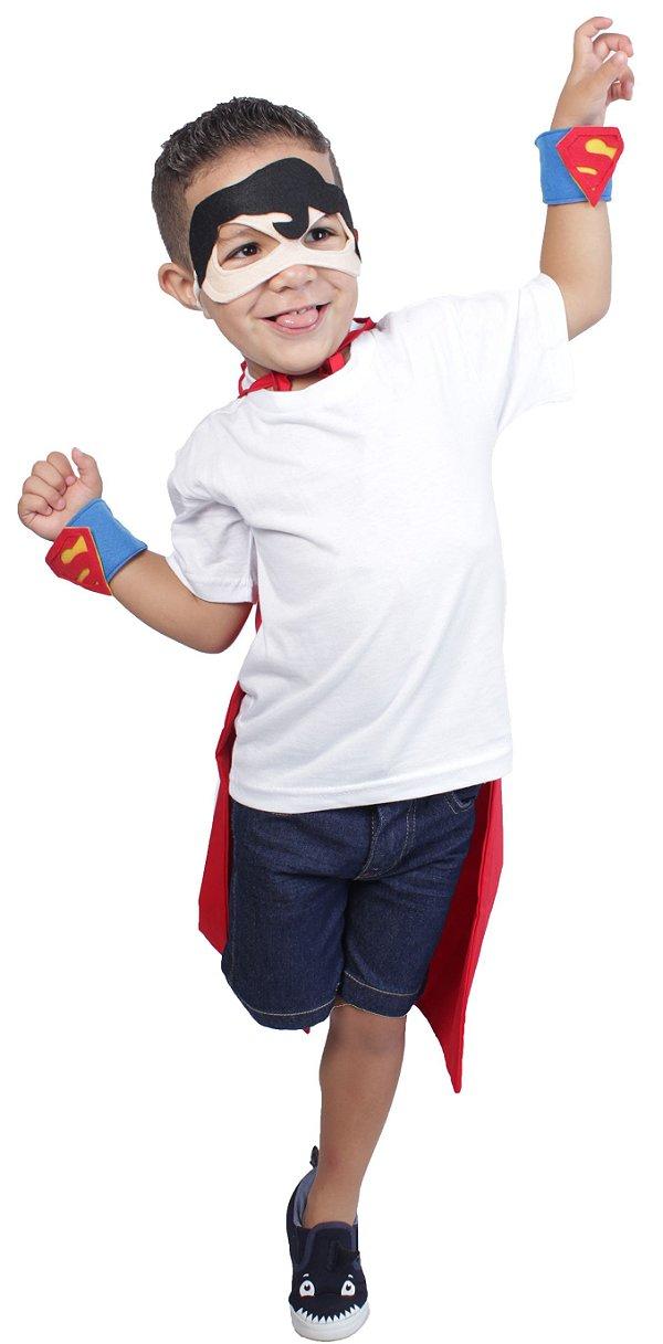 Kit inspirado no Super Homem, SEM capa - Acessórios -QUIMERA KIDS