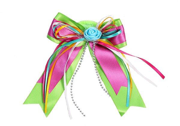 Laço junino PAMONHA: verde e pink com xuxinha - Festa Junina