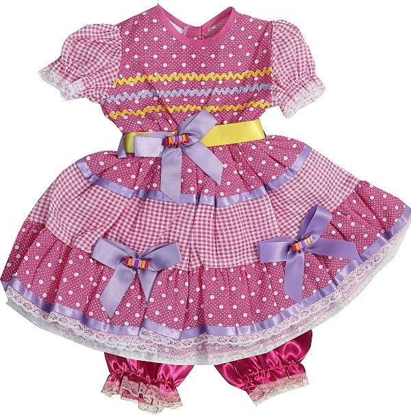 Vestido Caipira Jujuba - Festa Junina