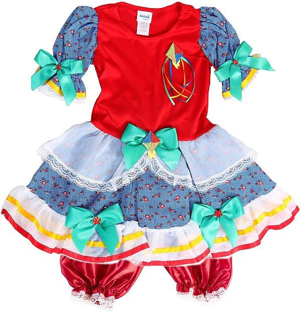 Vestido Caipira Maça do Amor - Festa Junina