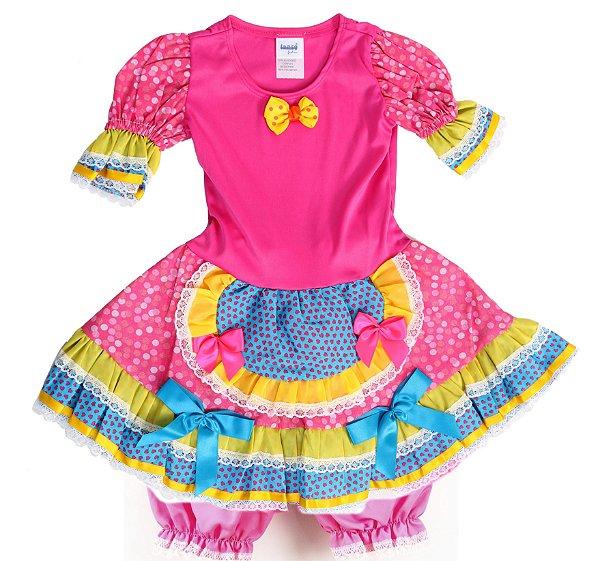 Vestido Caipira Bicho de Pé - Festa Junina