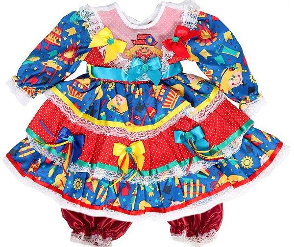 Vestido Caipira Beijinho - Festa Junina