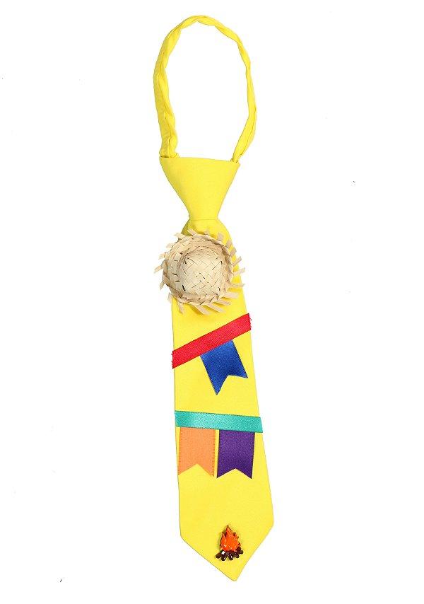 Gravata caipira AMARELA - Festa Junina - TANGO FANTASIAS