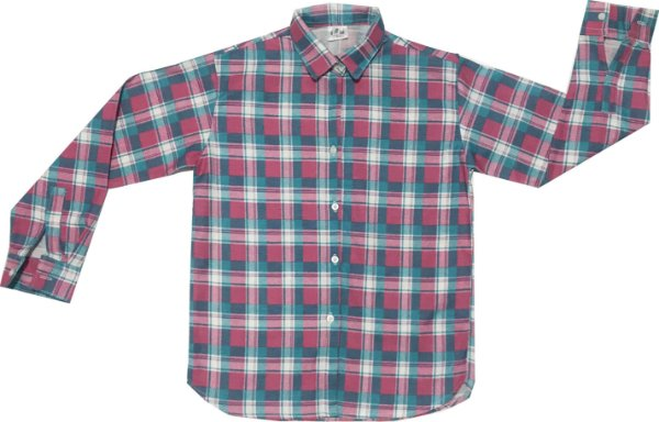 Camisa xadrez verde água e rosa - Festa Junina