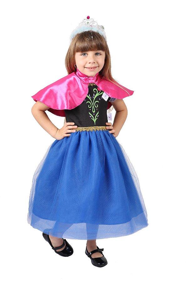 Vestido da Ana - Frozen - Fantasia - QUIMERA KIDS