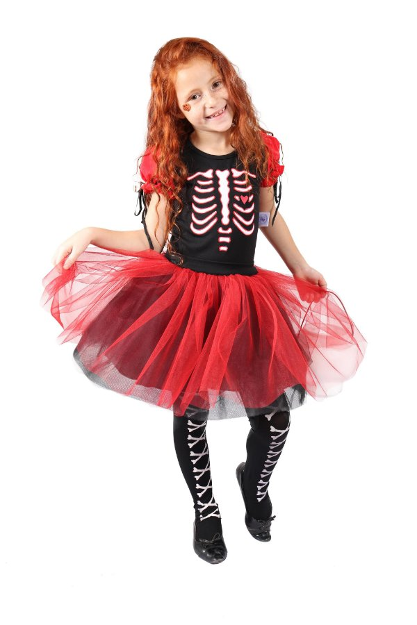Conjunto Esqueleto Vermelho - body e saia tutu