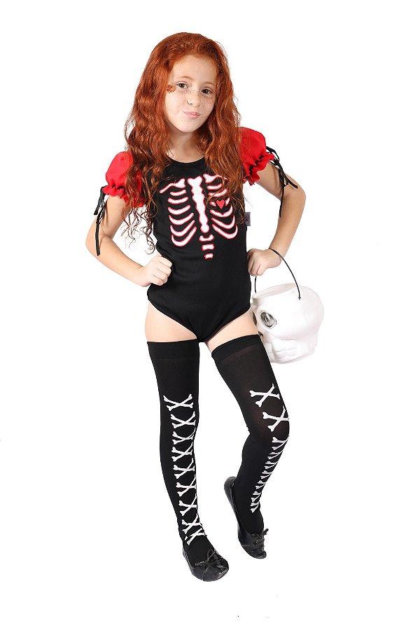 Body de Esqueleto Vermelho - Halloween - QUIMERA KIDS