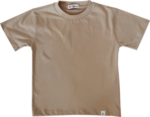 Camiseta 100% algodão - BEGE - QUIMERA KIDS