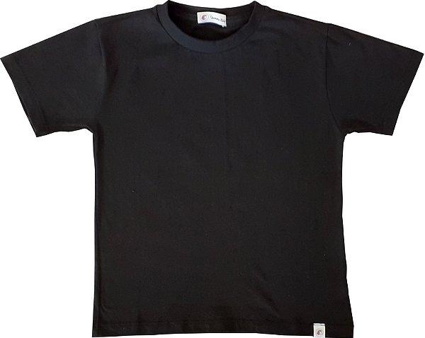 Camiseta 100% algodão - PRETA - QUIMERA KIDS