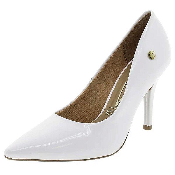 Sapato Scarpin Branco verniz Vizzano Noiva Festa